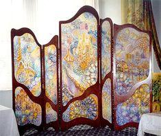 Art Nouveau Interior, Art Nouveau Furniture, Art Nouveau Design, Design Art, Art Nouveau Bedroom, Refurbished Furniture, Unique Furniture, Dressing Screen, Jugendstil Design
