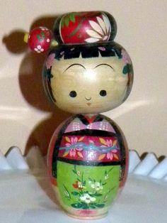 Vintage Japanese Kokeshi Nodder Doll | eBay