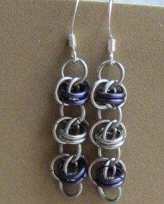 Barrel Weave Chainmaille Earrings