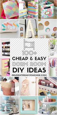100 Cheap and Easy Dorm Room DIY Ideas. 100 Cheap and Easy Dorm Room Ideas Make your dorm room look stylish with these cheap Easy Diy Room Decor, Diy Home Decor Rustic, Cheap Home Decor, Decor Room, Diy Home Decor For Apartments, Decor Inspiration, Decor Ideas, Dorm Room Organization, Organization Hacks