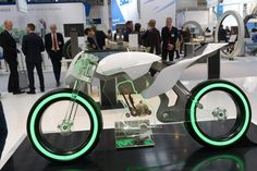 Shortly after its official unveiling in February 2013, the Schaeffler Concept bike stole the show at HANNOVER MESSE 2013. The bike presents a selection of Schaeffler products in. Its design was compared by many visitors with the bikes we see racing in Disney's TRON: Legacy.