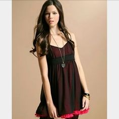 Dresses & Skirts - NWT cocktail dress pink with black sheer chiffon s