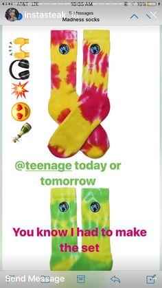 Bored Teenager Tie Dye Socks!! Made by Www.tiedyehouse.com