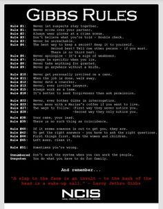 Gibbs list of rules