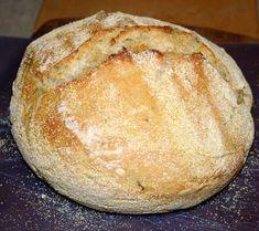 Rosemary Lemon No-Knead Bread — foodskop Savory Bread Recipe, Bread Recipes, Cooking Recipes, Portuguese Recipes, Italian Recipes, Focaccia Pizza, Food C, No Knead Bread, Easy Bread