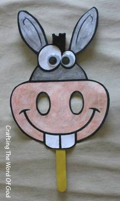 Balaams Donkey Use this craft with the Bible lesson at https://missionbibleclass.org/old-testament-stories/old-testament-part-1/conquering-the-land/balaam-and-his-donkey/