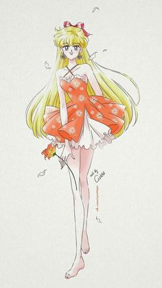Miniko  (sailor venus) fan art by ash