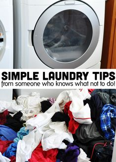 Simple laundry tips from someone who knows what not to do! These easy ideas could save your time and sanity.