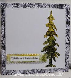 Fasters korthus: Distress Ink og dies træ