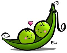 peas in a pod artwork | Peas in a Pod by ~emeeezy on deviantART