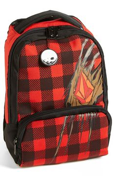 Pin for Later: 50 Backpacks to Make Back to School Back-to-Cool He Was a Skater Boy Volcom Plaid Backpack ($55)