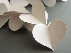 Metallic Silver Heart Garland