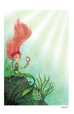 A Mermaid, Primping... By Alex T Smith www.alextsmith.blogspot.com