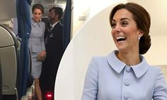 The Duchess of Cambridge betrayed no hint of nerves today as she arrived in the Netherlands for her first solo foreign trip without William, wearing an elegant blue Catherine Walker coat.