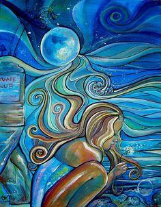 Colleen Wilcoc #surf #art #blue