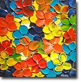 Love the colorful florals by Jeremy Bortz (http://www.jeremybortz.com)