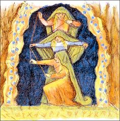 The Norns - D'Aulaire's book of Norse Mythology