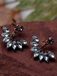 Chicnico Fashion Little Flower Crystal Earrings