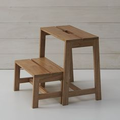 Wooden 2-step Stool