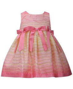 Bonnie Baby Baby Girls' Ombre-Stripe Dress