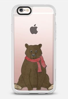 """This winter I won't hibernate"" iphone case designed by Barruf. Get $10 off using code: S29WXC  #casetify @casetify #barruf #bear #teddybear #winter"