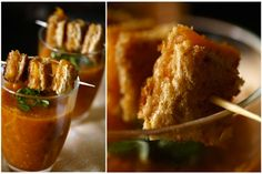 Grilled cheese bites w/ tomato soup - unique appetizers for your wedding