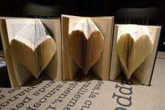 Buch-Origami Herzbuecher
