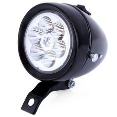 2 Colors 6 LEDs Vintage Bike Cycling Light Headlight Waterproof Retro ABS Waterproof Bicycle Accessory Bike Bicycle Light