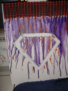 melting crayon art: SUPERMAN LOGO