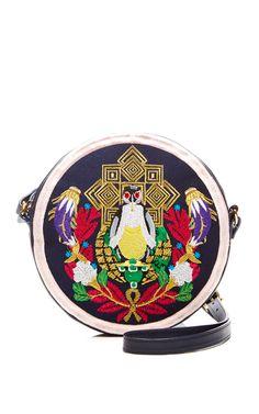 Embroidered Leather Shoulder Bag by Mary Katrantzou - Moda Operandi