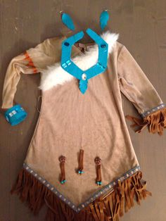 Pocahontas costume with duct tape accessories.