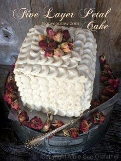 Five Layer Petal Cake (raw, vegan)