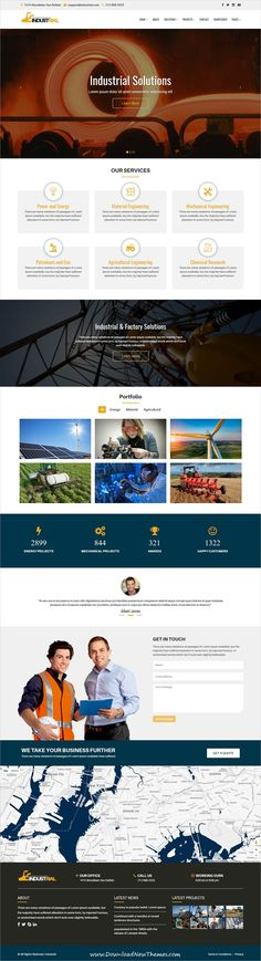 Industrial is clean and modern design 6in1 responsive HTML5 bootstrap template for #industrial and #factory solutions website to live preview & download click on Visit #websitedevelopment