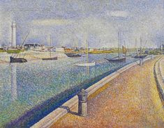 The Channel at Gravelines, Petit-Fort-Philippe by George Seurat