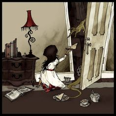 "Abigail Larson  ""I heard a great story on Monsters and Mysteries in America about a woman who's daughter had an imaginary friend, and she'd ask for extra sandwiches to give to it. One day, the mother peeked into the room to see what her daughter was doing with all the food, and she watched her daughter hold the sandwich up to her closet door, and a huge reptilian claw snatched it up and disappeared into a hole in the back of the closet."""