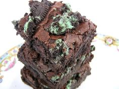 mint oreo brownies, for St. Paddy's day (or any day!) =)