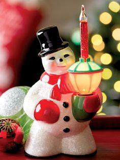 d16496d531652 Snowman Bubble Light. Christmas CarolChristmas PastRetro ...