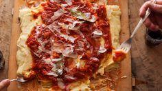Potato polenta with onion, cheese and tomato recipe : SBS Food Polenta Recipes, Mashed Potato Recipes, Meat Recipes, Vegetarian Recipes, Potato Spuds, Potatoes, Italian Dishes, Italian Recipes, Italian Seafood Stew