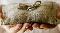 DIY Wedding Table Decoration Ideas - Burlap Ring Pillow - Click Pic for 46 Easy DIY Wedding Decorations
