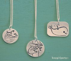To #mom with #love. Search for the perfect Mother's Day present – including illustrated silver necklaces and gifts – at http://boygirlparty.etsy.com
