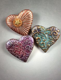 heart stamps for clay - Yahoo Image Search Results Heart In Nature, Heart Art, Hearts And Roses, Felt Hearts, I Love Heart, Happy Heart, Polymer Clay Art, Polymer Clay Jewelry, Precious Metal Clay