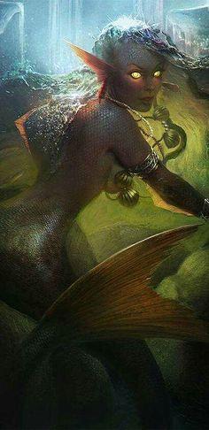 Sometimes I like mermaids a bit scarier..