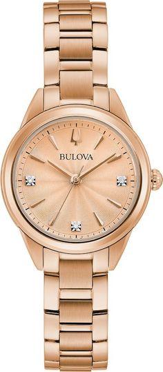 … Watch Cufflinks, Bulova Watches, Metal Bracelets, Birthstone Jewelry, Womens Jewelry Rings, Diamond Studs, Stainless Steel Case, Gold Watch, Watches For Men