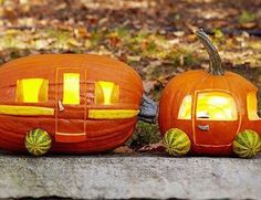Another adorable #pumpkincarving design for #rvers shared by @bluedogrv.  #rvlife #rvgems #camper #rvliving #liveriveted #wanderlust #fulltimerv #camplife #travel #outdoors #nature #travelusa #wandering #nomad #boondocking #roadtrip #motorhome #airstream #traveltrailer #gorving #gypsy #halloween #pumpkin