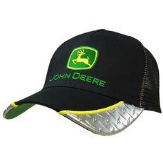 John Deere Diamond Plate Black Ball Cap with Mesh Back John Deere Cupcakes 2d21130bf691