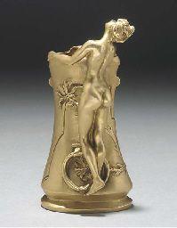 Ars Nouveau Bronzes Charles (Karl) Korschann (Czechoslovakian, 1872-1943)   dore' on bronze