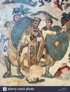 Roman Floor Mosaic, Villa Romana Del Casale, Piazza Armerina