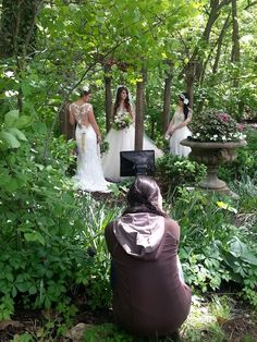 """Getting set up for The Kelly Gallery's Enchanted Forrest photo shoot.  Get ready for our """"Love in the Garden"""" Open House series beginning June 18th, featuring all kinds of vendors including @delishcatering1, The Korner Shoppe, Michael Lauren Weddings, Diamond Girls Bartending and so many more!  This is a FREE event!"""