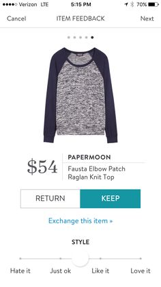 Papermoon raglan. I love Stitch Fix! A personalized styling service and it's amazing!! Simply fill out a style profile with sizing and preferences. Then your very own stylist selects 5 pieces to send to you to try out at home. Keep what you love and retur
