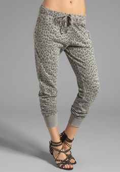 4dec8b2387f Banded Bottom Sweat Pant in Gray - Lyst Slouchy Pants